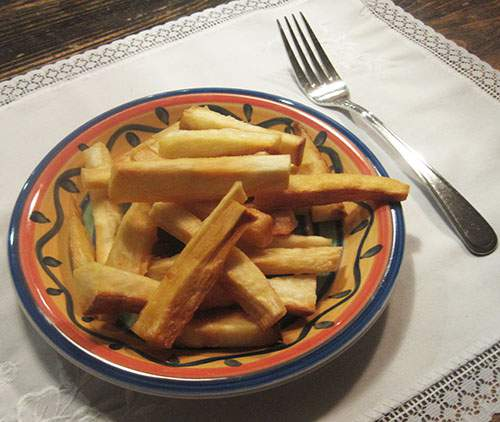 Yuca fries on a plate